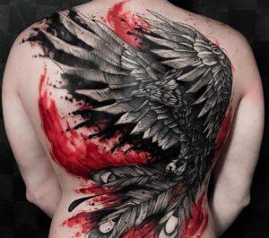 Back Raven Tattoo