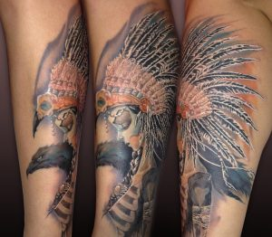 Native Americans Raven Tattoo