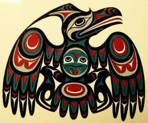 North American Pacific Northwest Raven Tattoo Design
