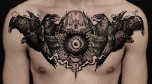 Raven Tattoo in Mythology