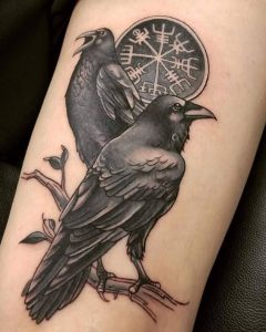 Raven and a Crow Tattoo Differences