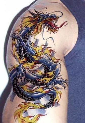 Bicep Dragon Tattoo