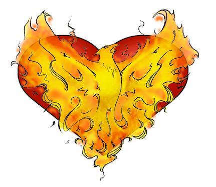 The phoenix heart tattoo