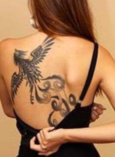 Phoenix in flight tattoo