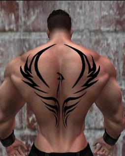 The tribal phoenix tattoo