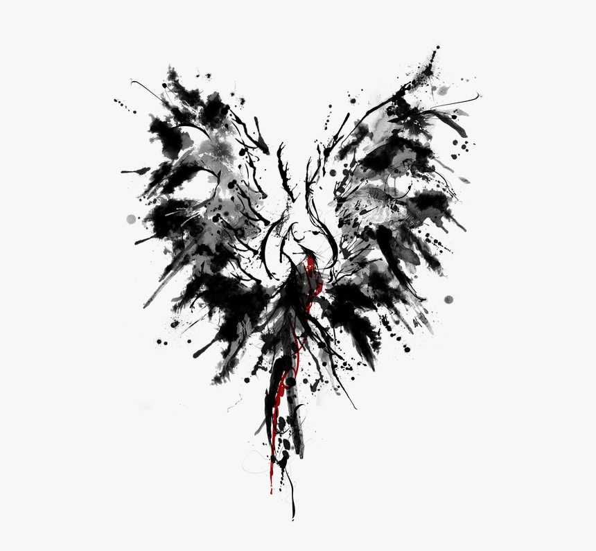 abstract phoenix tattoo